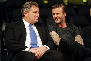 Tim Leiweke and David Beckham