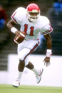 Andre Ware with the Houston Cougars, winner of the 1989 Heisman Trophy