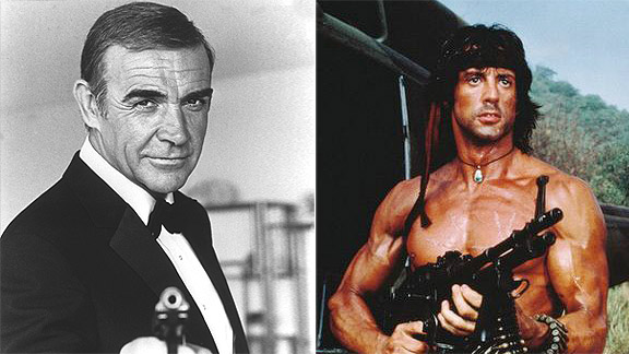 James Bond and Rambo