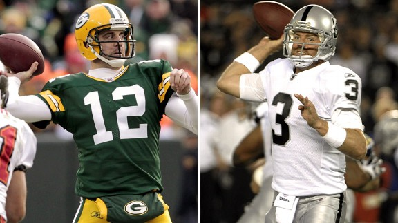 Aaron Rodgers, Carson Palmer