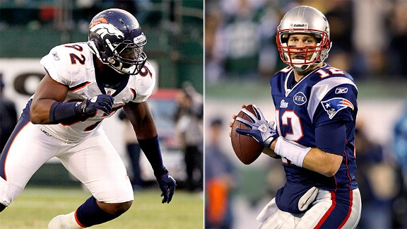 Elvis Dumervil & Tom Brady