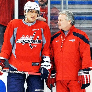 Alex Ovechkin and Dale Hunter
