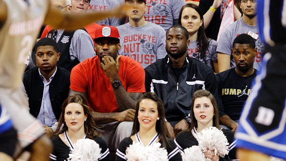 LeBron James watches Ohio State vs. Duke