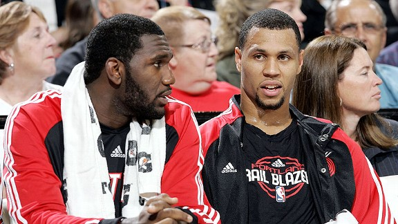 Greg Oden and Brandon Roy