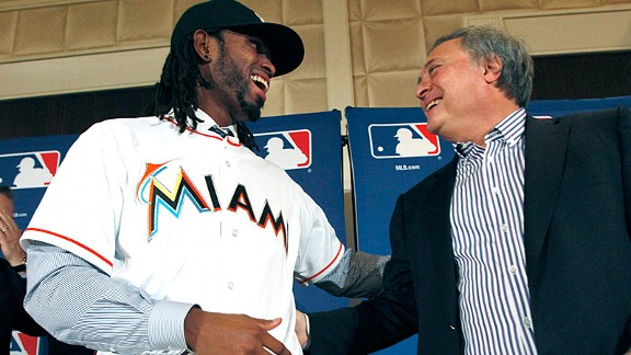 Jose Reyes and Jeffrey Loria