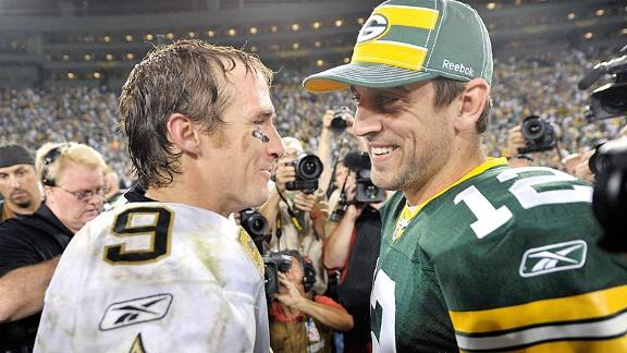 Aaron Rodgers and Drew Brees