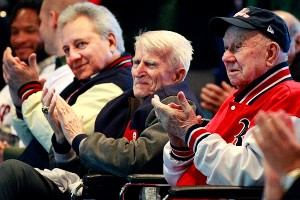 Rico Petrocelli, Johnny Pesky and Lou Lucier 
