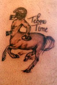 Tim Tebow tattoo