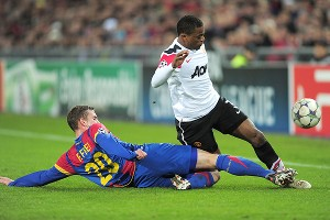 Fabian Frei and Patrice Evra