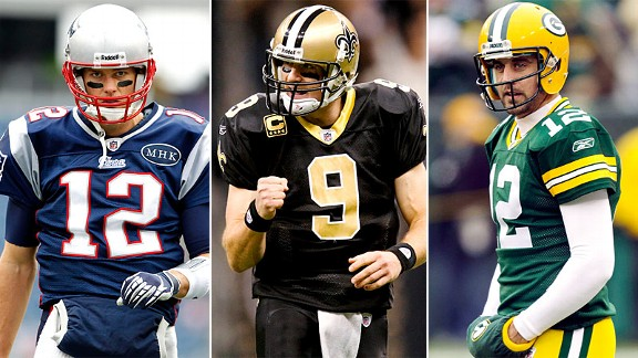 Brady, Brees, Rodgers