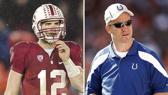 Andrew Luck and Peyton Manning