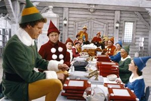 Elves making toys