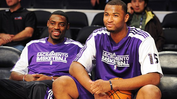 Tyreke Evans and DeMarcus Cousins