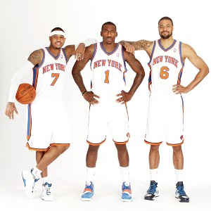 Carmelo Anthony, Amare Stoudemire, Tyson Chandler