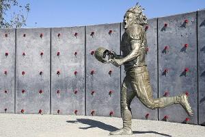 A statue of Pat Tillman