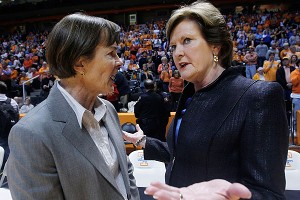 Pat Summitt and Tara VanDerveer