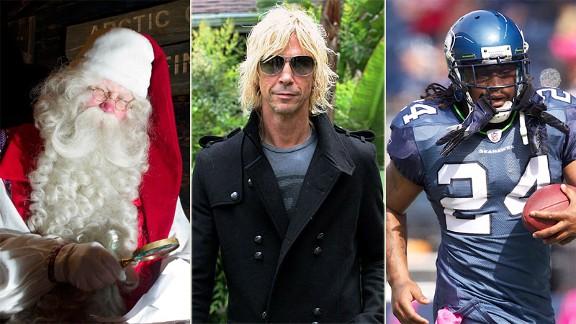 Santa, Duff McKagan, Marshawn Lynch