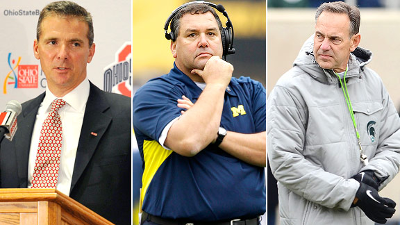 Urban Meyer, Brady Hoke, Mark Dantonio