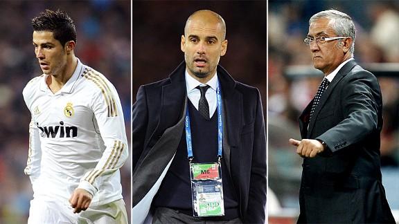 Ronaldo, Guariola, Manzano