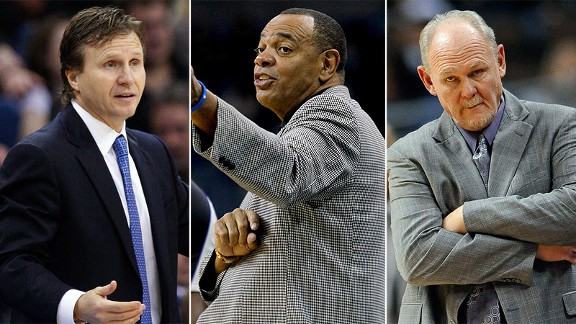 Scott Brooks,  Lionel Hollins and George Karl