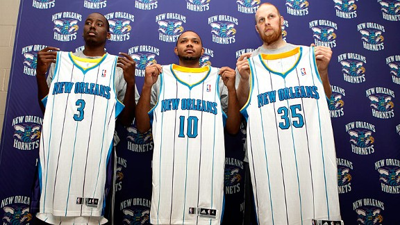 Al-Farouq Aminu, guard Eric Gordon and center Chris Kaman