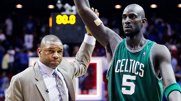 Doc Rivers and Kevin Garnett