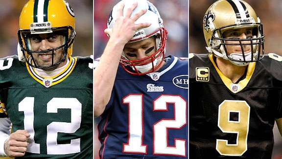 Aaron Rodgers, Tom Brady & Drew Brees
