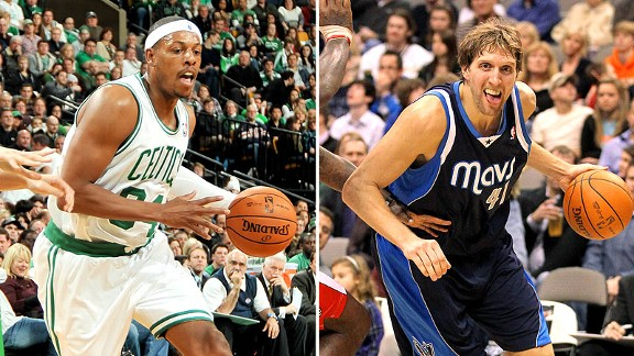Paul Pierce and Dirk Nowitzki