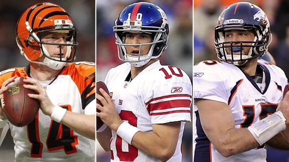 Tim Tebow, Eli Manning, Andy Dalton