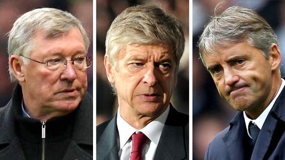 Alex Ferguson, Arsene Wenger and Roberto Mancin