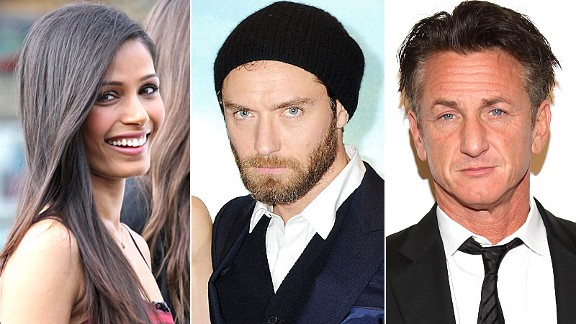Freida Pinto, Jude Law & Sean Penn 