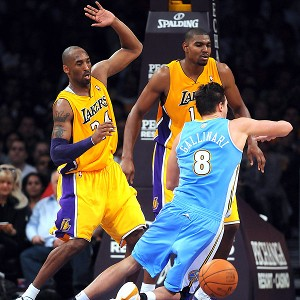 Kobe Bryant and Andrew Bynum