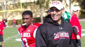Deion Sanders Jr. and Herm Edwards