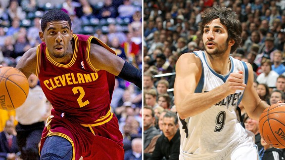 Kyrie Irving and Ricky Rubio