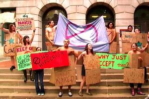 Cowboys Sweatshops Protest