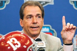 Alabama head coach Nick Saban