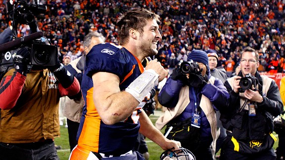 Denver was beginning, end of Tebow Time