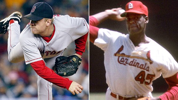 Curt Schilling and Bob Gibson