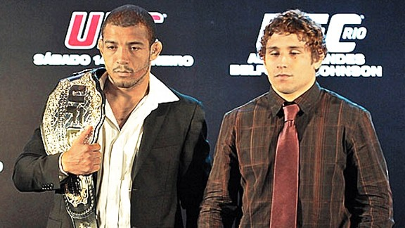 Jose Aldo and Chad Mendes