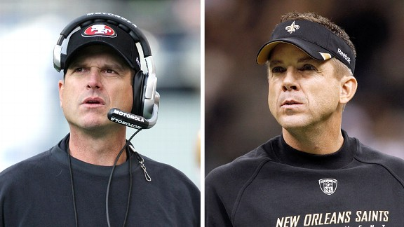 Jim Harbaugh and Sean Payton
