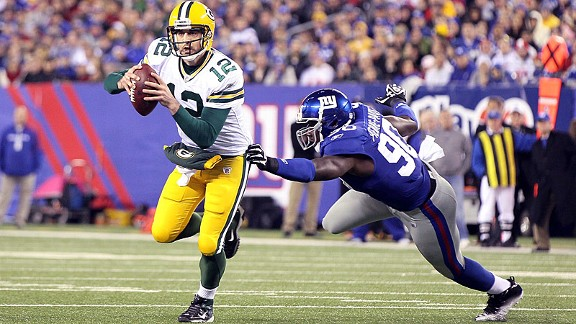 Aaron Rodgers and Jason Pierre-Paul