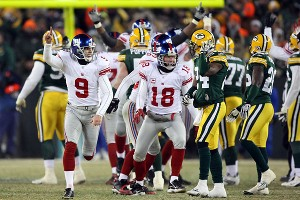 2012 NFL playoffs -- New York Giants kicker Lawrence Tynes inherited