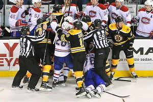 Bruins fight