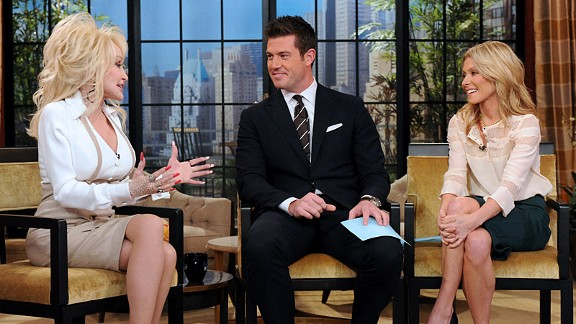 David Russell Disney ABC Domestic TV ESPN Analyst Jesse Palmer And Kelly Ripa Interview Dolly Parton On Thursdays Show