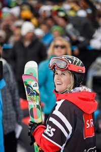 Sarah Burke is a four-time Winter X Games gold medalist.