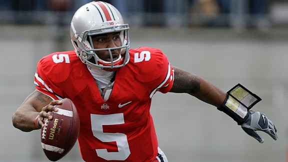 Ohio States' Braxton Miller in action against Penn State during an NCAA college football game, Saturday, Nov. 19, 2011, in Columbus, Ohio.