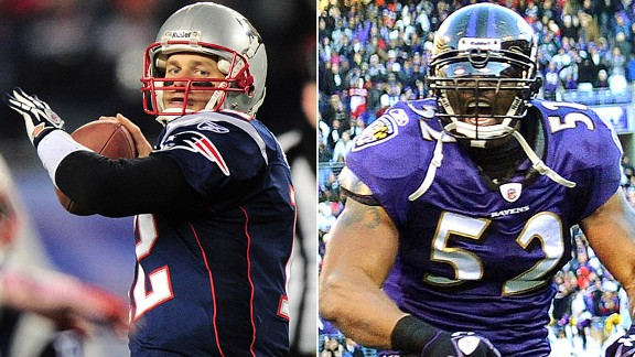 Tom Brady and Ray Lewis