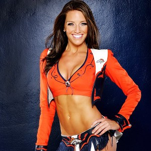 Broncos cheerleader Katie
