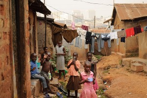 Neighborhood children in Kampala, Uganda
