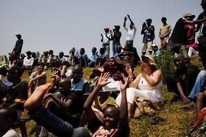 Ugandan Baseball Fans
